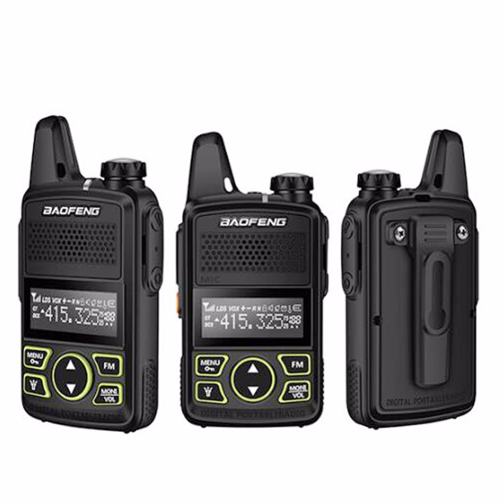 Image 2 - 2 pcs baofeng BF T1 mini portátil rádio em dois sentidos bft1 uhf  400 470 mhz 20ch ham fm transceptor walkie talkie com fone de  ouvidoWalkie-talkie