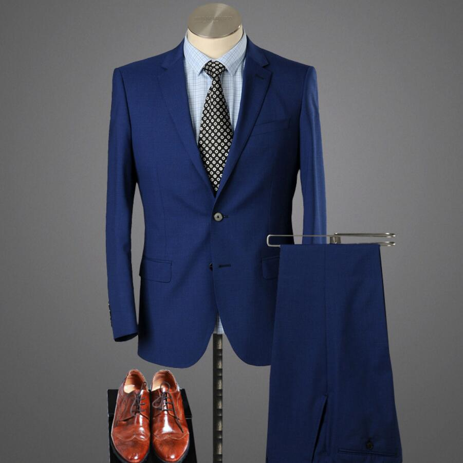 Custom Made Dark Blue font b Men b font font b Suit b font Tailor Made