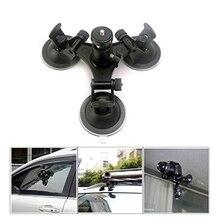 OOTDTY accessoires pour caméra Triple ventouse support de ventouse à Angle bas pour Gopro Hero 2 3 3 + 4 caméra Dropshipping
