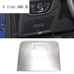 Car Styling jazdy schowek na rękawiczki uchwyt ze stali nierdzewnej dekoracji obejmuje naklejki wykończenia dla BMW X3 G01 2018 wnętrze akcesoria samochodowe
