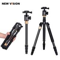 Aggiornamento Q999S Professionale Fotografia Portatile In Alluminio Testa A Sfera + Treppiede Per Monopiede Per Canon Nikon Sony DSLR Camera