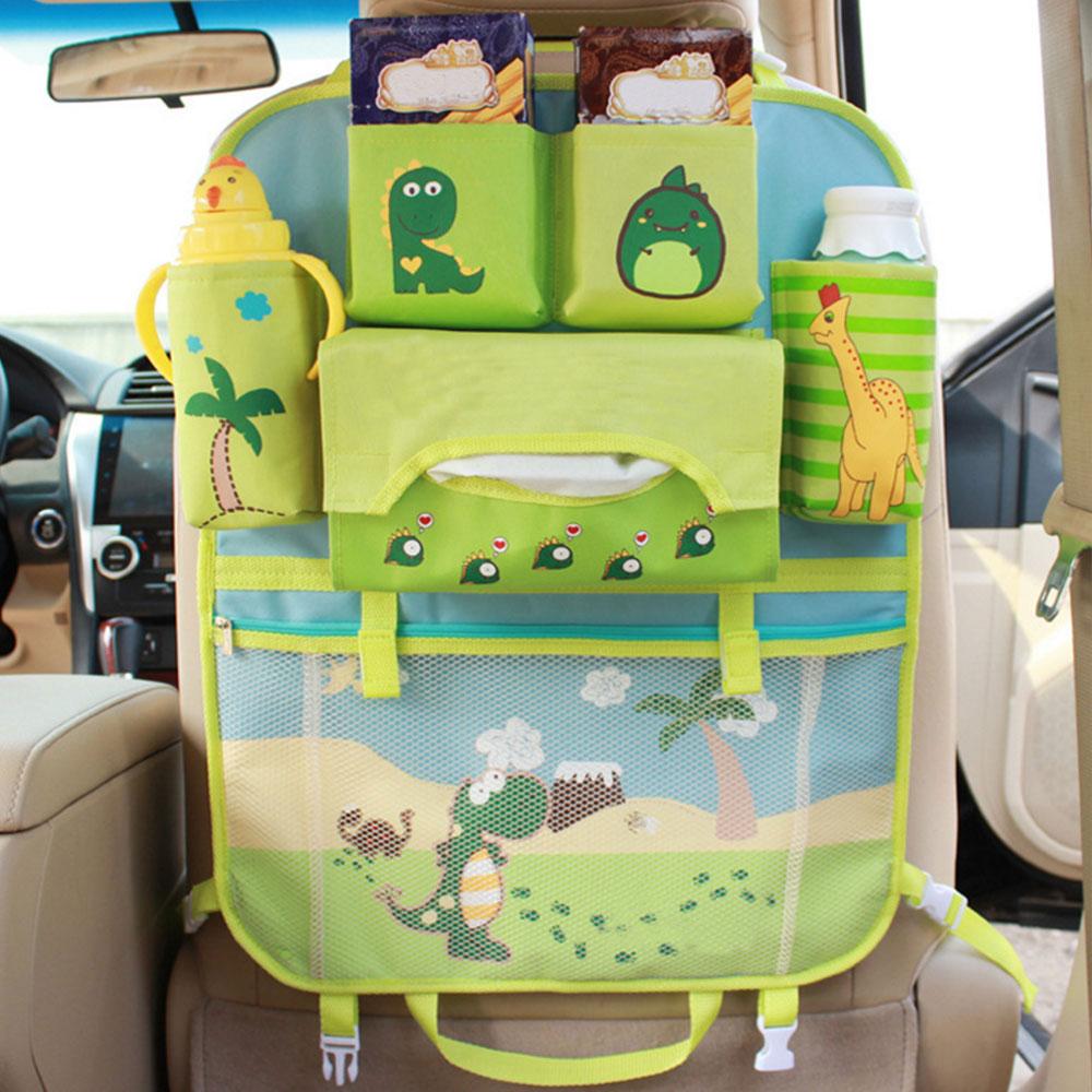 Cartoon Multifunctional Waterproof Baby Stroller Bag Baby Universal Hanging Basket Car Seat Storage Bag Stroller Accessories цена 2017