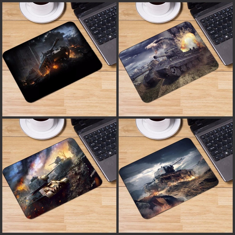 Yuzuoan Top Selling World of Tanks Popular Gaming Rectangle Silicon Durable Mouse Pad Co ...