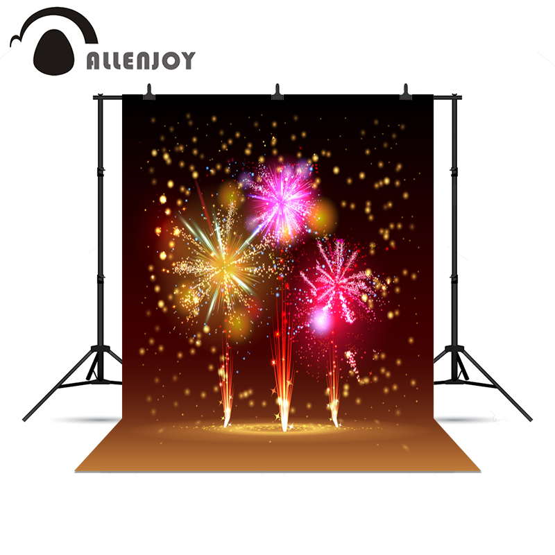 Allenjoy 5*7ft New Year Firework Photography Backdrop Cloth Studio Photo Background Christmas Photography Backgrounds fotografia