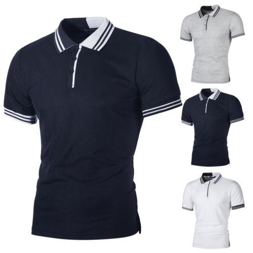 2018 Neue Mode Hot Beliebte Mens Stilvolle Beiläufige Slim Fit Kurzarm Shirt Tops