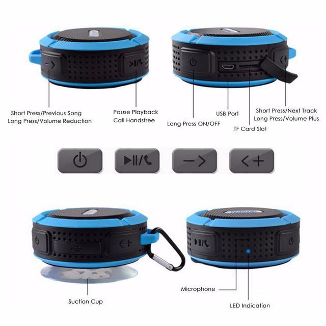 Bluetooth 4.1 Stereo Portable Speaker IPX4 Waterproof 4