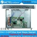 8 Gigabit Lan Appliance de Firewall PFSense Orelhas de Rack com G41 82580DB LGA771 1000 M 6 82574L 2 de Bypass
