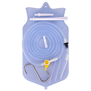 Image 5 - FDA Enema BAG ชุดสำหรับทำความสะอาดลำไส้ใหญ่ซิลิโคนท่อสุขภาพ Anal ช่องคลอดทำความสะอาดชุด Enema Flush ผูกล้าง