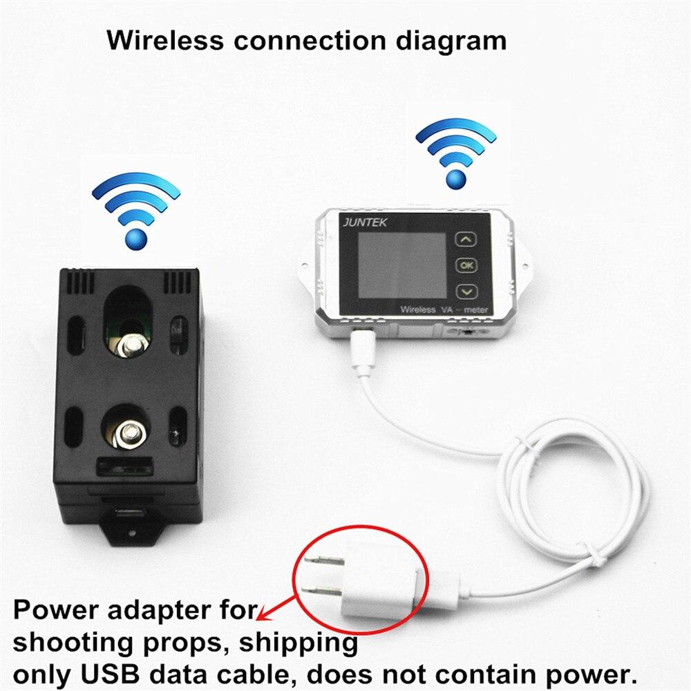 Voltmètre DC batterie sans fil 120 V 50A tension ampèremètre coulomètre USB testeur capacité tension courant compteur d'énergie KWH testeur