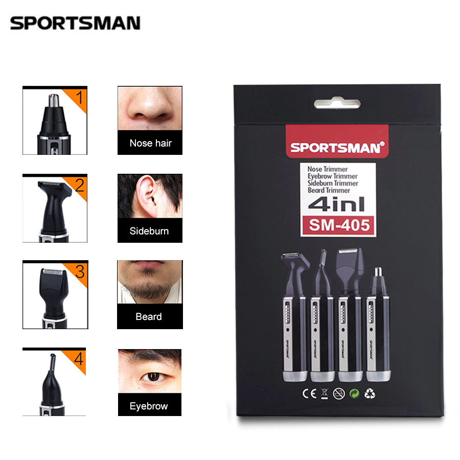 Men s electric nose hair font b trimmer b font razor 4 IN 1 multifunctional Nose
