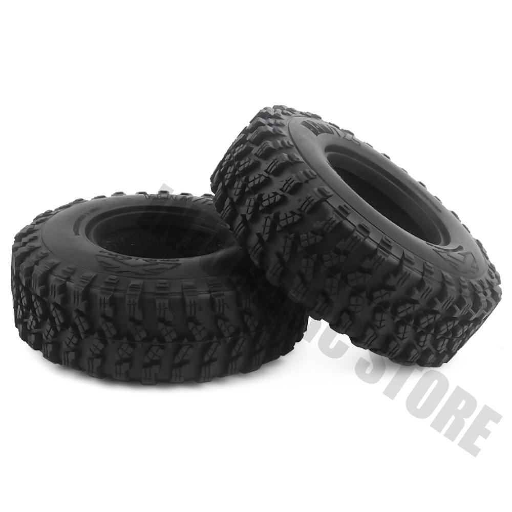 "Image 4 - 4PCS/Set Rubber 1.9"" 105*35mm Wheel Tires for 1/10 RC Crawler Truck Voodoo KLR Axial SCX10 90046 90047 RC Car Tyres-in Parts & Accessories from Toys & Hobbies"