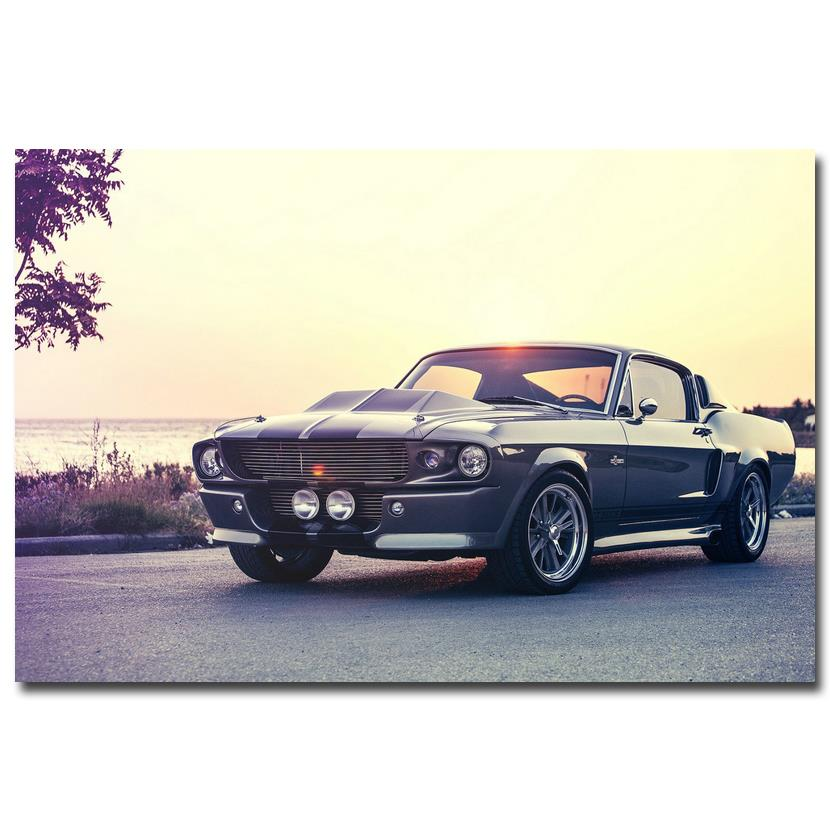 Classic Muscle Car Wallpapers: NICOLESHENTING Hot Rod Muscle Car Art Silk Fabric Poster