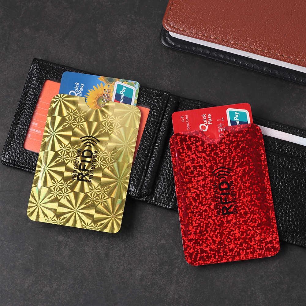 5 قطعة مجموعة بطاقات البنك لمنع الغض عن التعريف بالإشارات الراديوية حقيبة الحماية NFC حافظة مضادة للسرقة فرشاة من رقائق الألومنيوم قارئ حماية بطاقات التعريف الشخصية