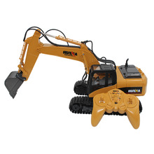 Children Remote Control Engineering Vehicle 1:14 15 Channel 2.4G RC Alloy Truck Excavator Model Remote Control Crawler Tractor