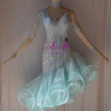 KAKA-L1537, Женская Одежда для танцев, платье для латинских танцев с бахромой для девочек, платье для сальсы, Танго, самбы, румбы, чача, женское платье