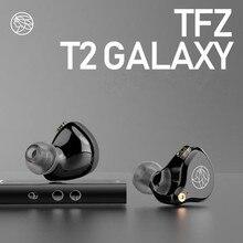 جديد 2019 سماعة الأذن المعطرة TFZ T2 في الأذن سماعة الموسيقى HIFI سماعات الأذن المعلقة حمى الدقة مزدوجة كروس
