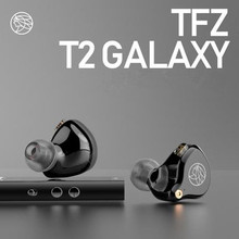 NEW 2019 The Fragrant Zither TFZ T2 in Ear Monitor Earphone Music HIFI Hanging Ear Earphones Fever Fidelity Double Crossover