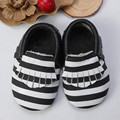Genuine Leather Baby moccasins Tassel Bow leopard print Baby shoes girls and boy Stripe First Walkers Infant Shoes Free shipping