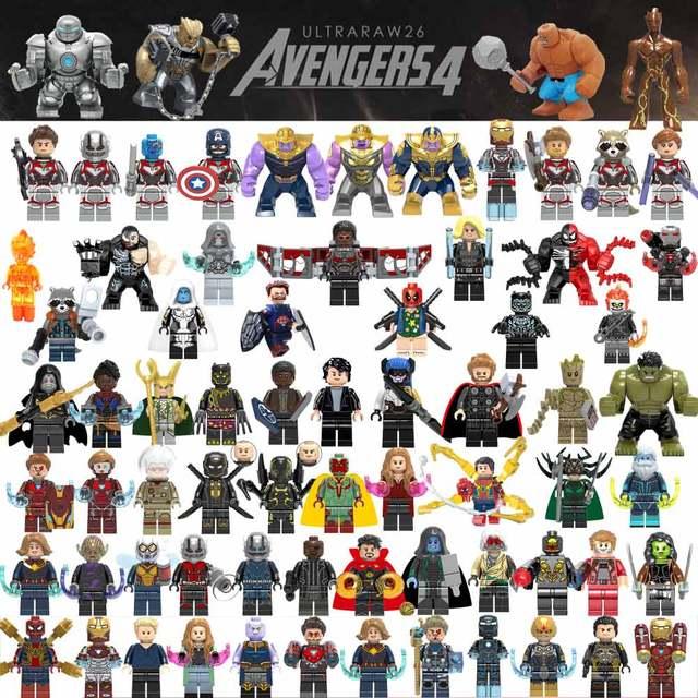 Gamora Endgamer 4 vingadores Hulk Figura de Ação Thanos Pantera Negra de Blocos de Construção Compatíveis com LegoINGlys Maravilha Brinquedos