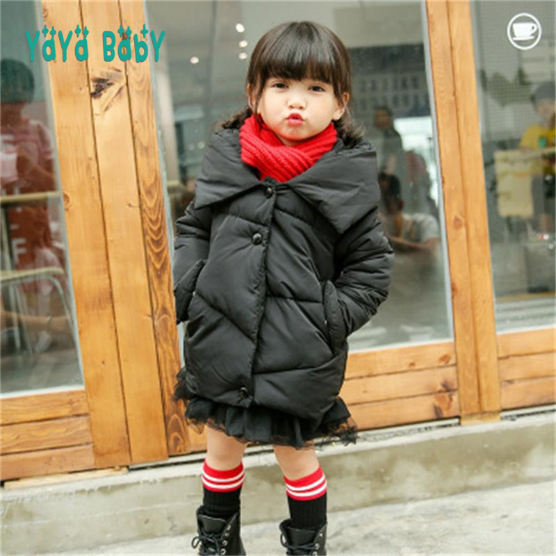 Winter Jackets for Girls 2018 New Casual Hooded Girls Down Coat 2 3 4 5 6 7 8 Year Children Windproof Warm Outerwear kids jackets for girls spring autumn style toddlers children clothing solid casual 2 3 4 5 6 7 8 year girls coat gray navy