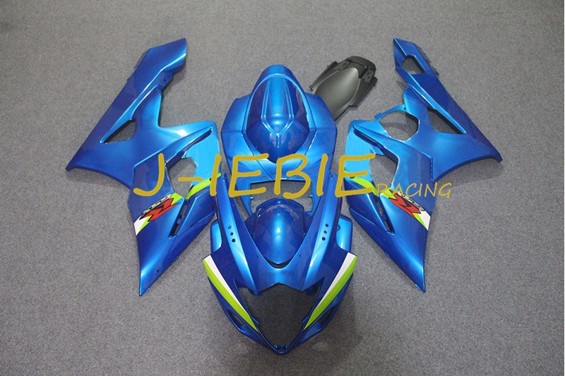 Blue Injection Fairing Body Work Frame Kit for SUZUKI GSXR 1000 GSXR1000 K5 2005 2006