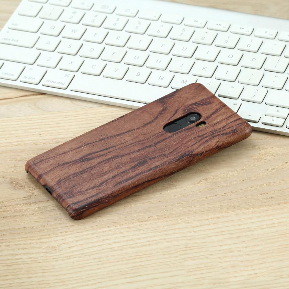 Étui de téléphone pour xiaomi mi mi x 2 mi x2 en bois naturel housse en bambou/noyer/bois de rose/bois de glace noir/coquille 5.99
