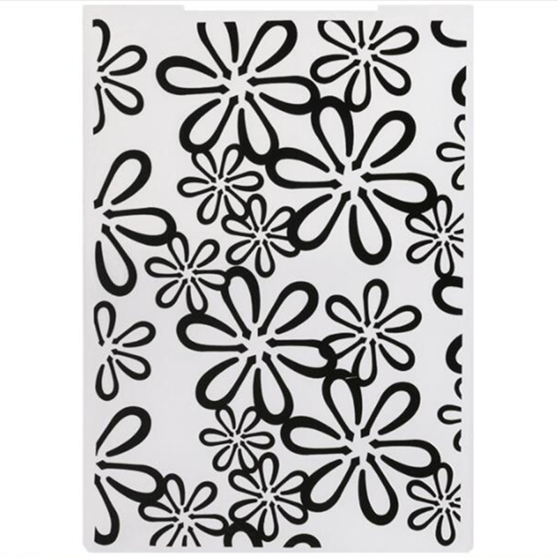 YLEF092 Flower Plastic Embossing Folder For Scrapbook Stencils DIY Photo Album Cards Making Decoration Scrapbooking Template