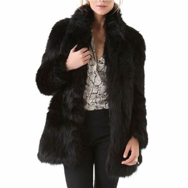 2016 Зима осень мода Искусственного Меха Плюс Размер Женщин OvercoatLove Ювелирные Изделия Твердые черные жилеты жилет из искусственного меха, пальто-куртки
