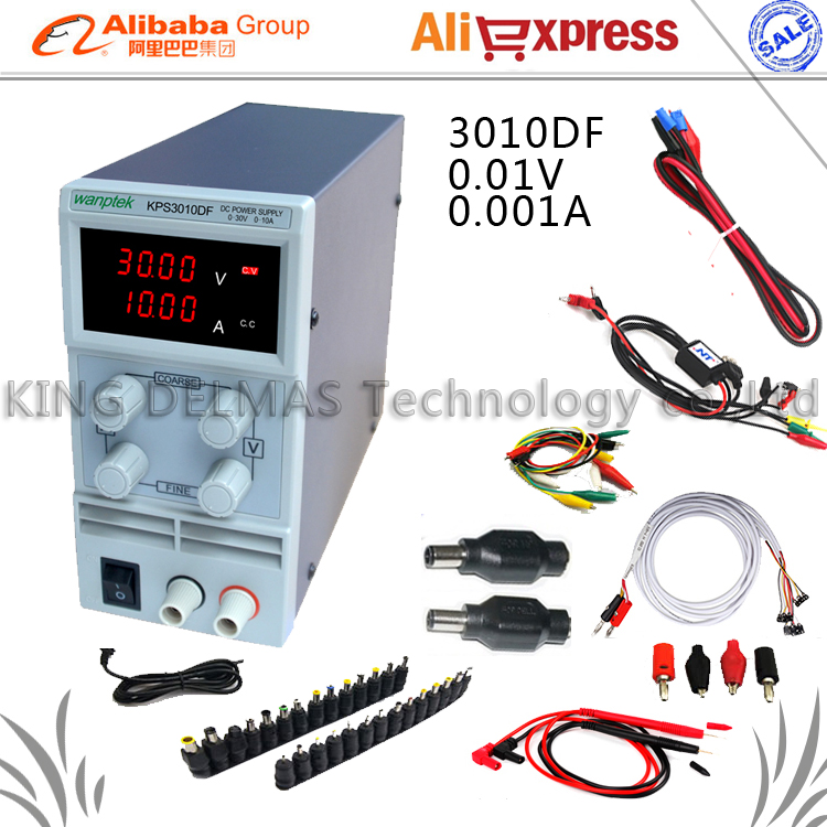 4mA Digital Adjustable DC Power Supply 30V10V 110-220V For Phone and Laptop Repair Power Supply+DC JACK SET+Repair cable+Probe kuaiqu high precision adjustable digital dc power supply 60v 5a for for mobile phone repair laboratory equipment maintenance