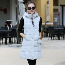 Free shipping 2016 spring and autumn winter new Korean cotton vest all-match fashion girls long casual relaxed students XL vest