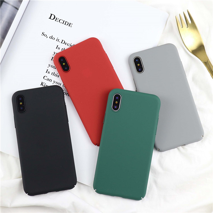Vintage Soild Color Phone Iphone X Case Ultra Slim Colorful Full Protect Cases Hard PC Frosted Scrub Cover