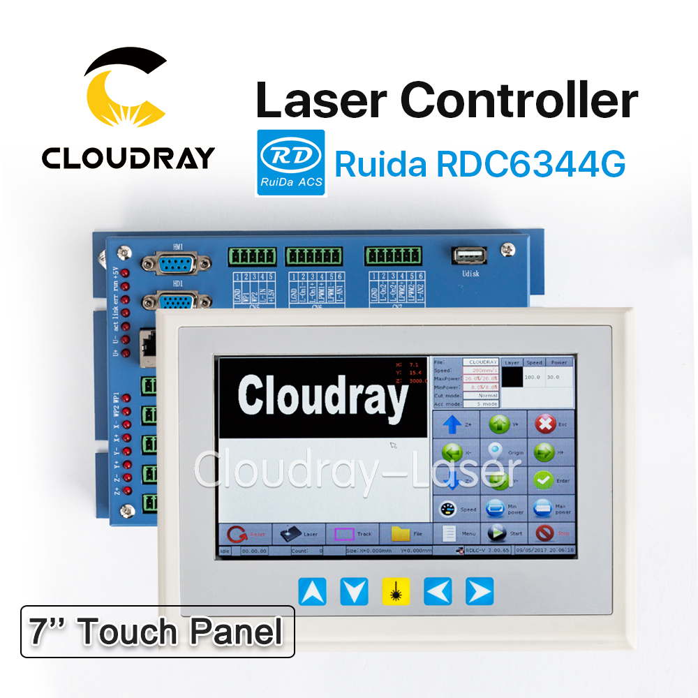 Cloudray Ruida RD RDC6344G 7 Touch Panel Co2 Laser DSP Controller for Laser Engraving and Cutting Machine RDC DSP 6344G