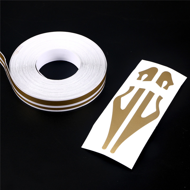 """YELLOW 12mm 1//2/"""" PIN STRIPE PinStriping Double Line Car TAPE Decal Vinyl Sticker"""