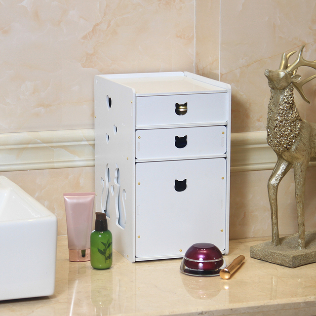 Superbe DIY Storage Box White Desktop 3 Drawers Makeup Organizer Jewelry Storage  Box Cosmetic Holder With