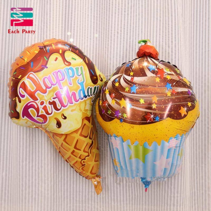 Party Balloons Foil Chocolate Birthday Cake Air Balls Happy Decorations Inflatable Balloon Baby Shower In Ballons Accessories