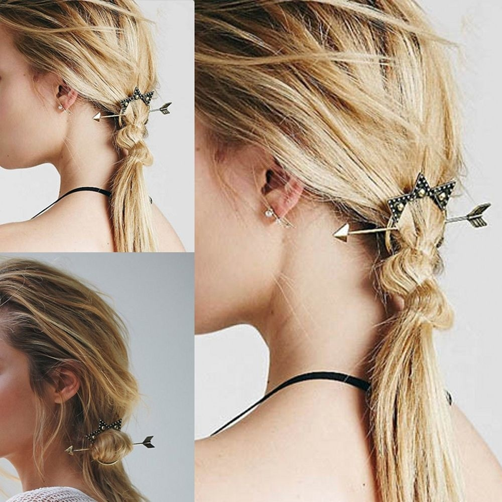 Simple Hairstyle Beautiful Girl Hair Clasp Hair Combs Personalized - Hairstyle designs simple