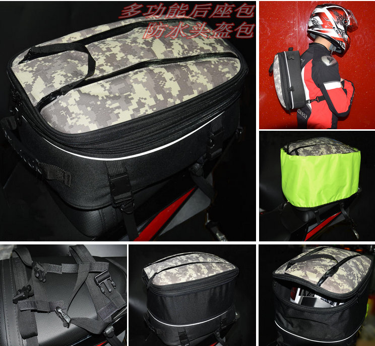BikeGP Authentic BIKE GP GP968 motorcycle tail bag Helmet bag luggage bag backseat ...