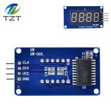 TM1637 светодиодный модуль дисплея для Arduino 7 сегментный 4 бита 0,36 дюймов часы красный анод цифровая трубка четыре последовательных платы драйвера пакет