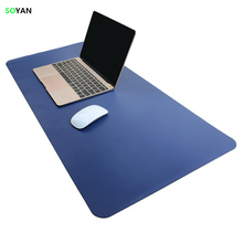 Mouse Pad Waterproof Extended Microfiber leather / Mat, Large Office Writing Gaming Desk Computer leather Mat Mouse pad 80*40cm
