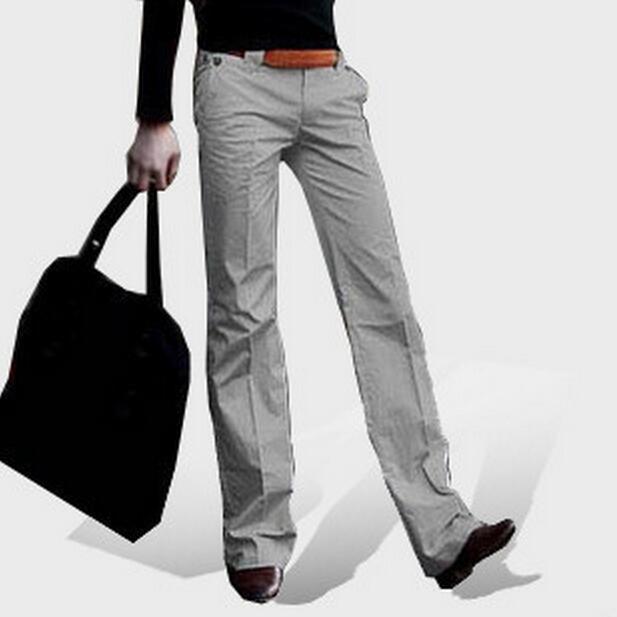 2017 Neue Sommer Herrenbekleidung Klassische Business Casual Micro Ausgestelltes Hosen Male Custom Made Plus Größe Dünne Hosen Mode S-xxl
