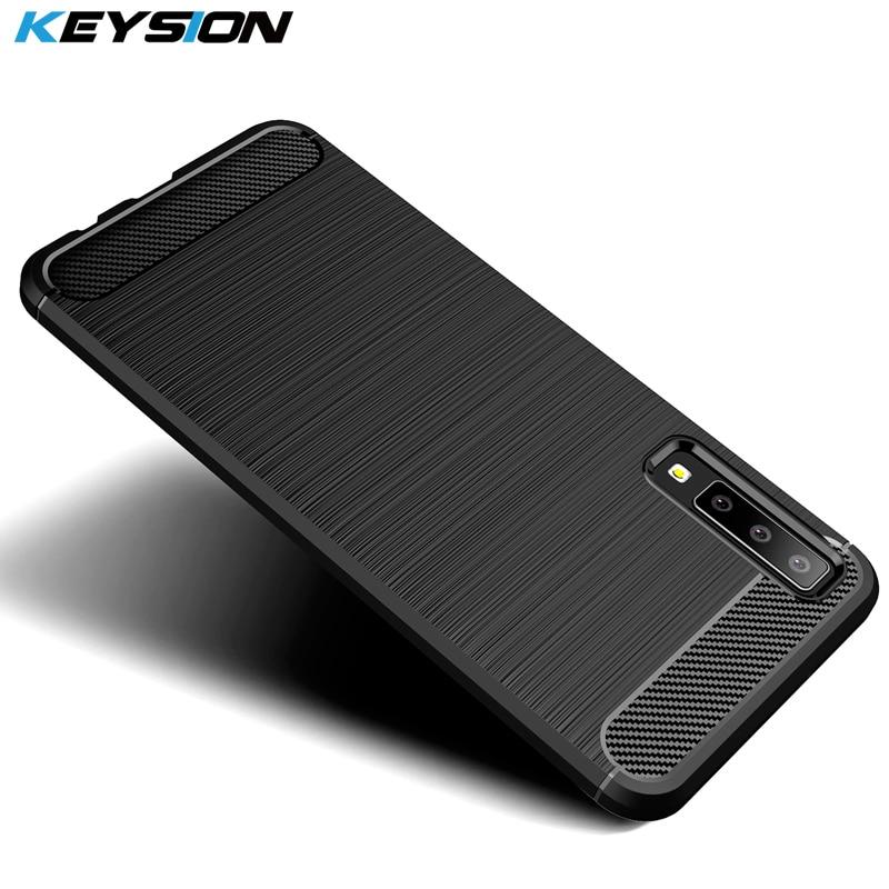 2018 Carbon Fiber Weiche Tpu Silikon Gebürstet Zurück Abdeckung Für Samsung A7 2018 A750 A750f Keysion Telefon Fall Für Samsung Galaxy A7