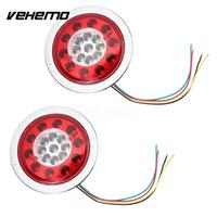 Vehemo Double Color Warning Lights Accessories Rear Lamps Universal Tail Lights Stop Indicator Durable Trailer