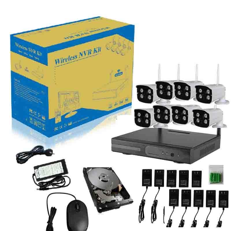 1TB HDD 4CH 1080P Wireless DVR NVR Set IP Kamera 720P Video Überwachungssystem