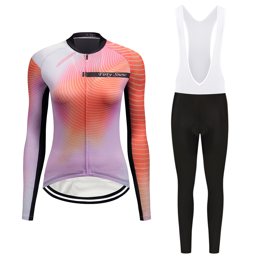 2017 Firty sonw long sleeve cycling wear clothes bicycle cycling jersey bib pants set Breathable clothing set