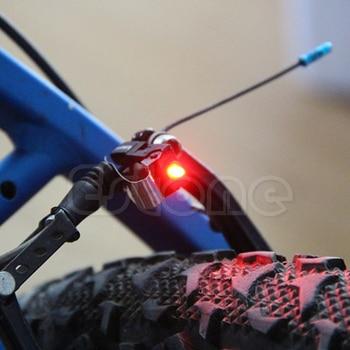 Mini luz de freno portátil para bicicleta, de alta calidad, con luz Led trasera y botón de batería