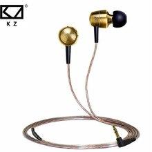 100% KZ GR 3.5mm Oro Cobre Alambre de ALTA FIDELIDAD Estéreo de Música Del Auricular Con Micrófono En La Oreja Los Auriculares de Aislamiento de Ruido Para Samsung auricular