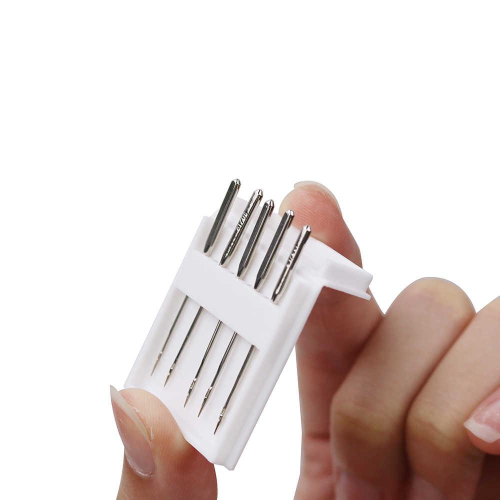 Швейные иглы для швейной машины из нержавеющей стали Джерси/Универсальные Швейные иглы Шариковая головка швейная ткань аксессуары инструменты