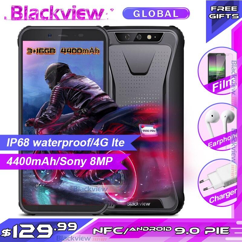 Nouveauté Blackview BV5500 PRO IP68 étanche Smartphone robuste 3GB 16GB 5.5 écran 4400mAh Android 9.0 pie 4G téléphone Mobile