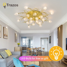 Nordic Gold/Black Pendant Lights Led Glass Modern Irregular Hanging Lamp Dining Room Kitchen Light Fixtures