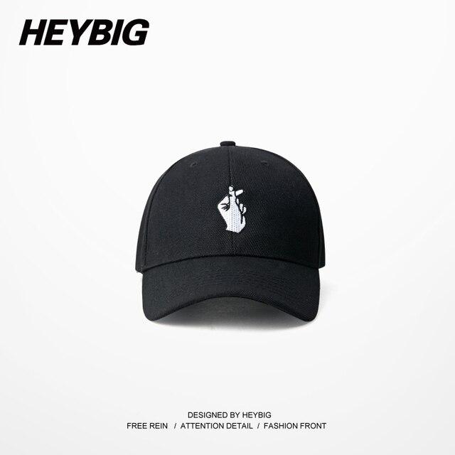Korean I love you Gesture 6 panels Hat Hiphop Baseball cap Curved Brimmed Heybig Summer Headwear Street Fashion Sun Hats